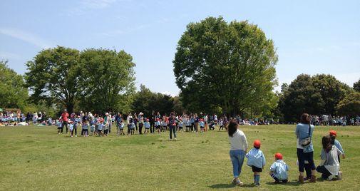 春の親子交流会で昭和記念公園へやって来ました!