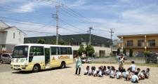 バスの避難訓練を行いました!